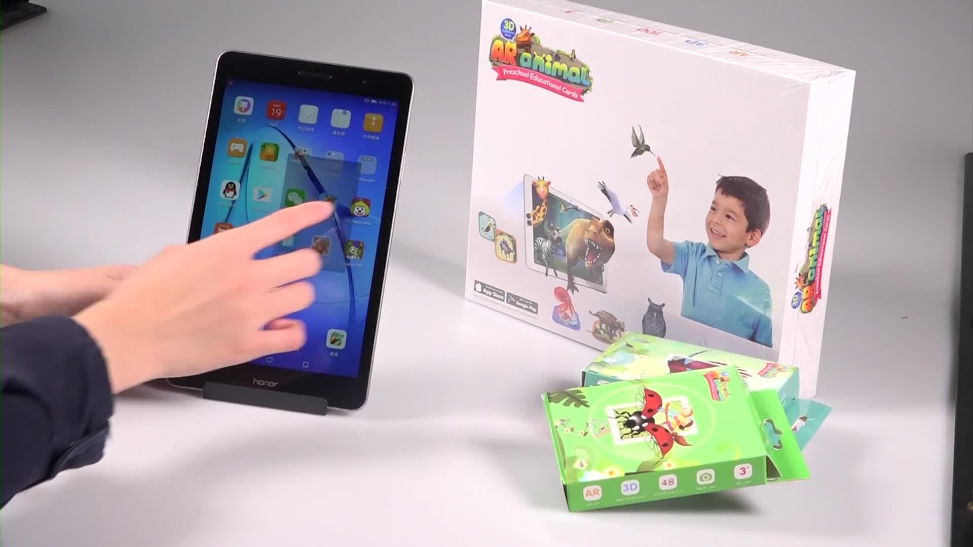2018 New Customize thông minh 4D AR Thẻ Trẻ Em gia đình vui động vật ludo ban trò chơi