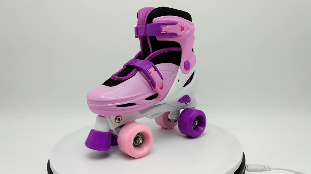 best inline skates for kids attachable adjustable plastic roller skate 4 wheels quad roller skate shoes