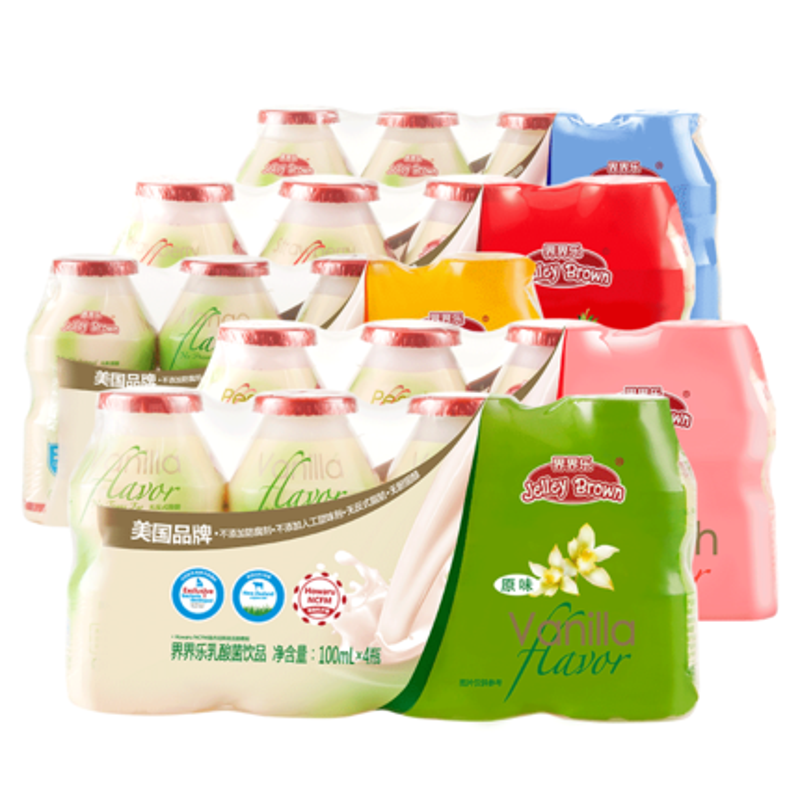 界界乐乳酸菌宝贝幼儿童果味牛奶