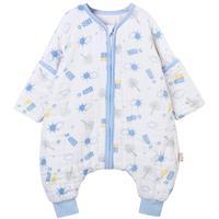 欧孕睡袋婴儿春秋薄款纯棉夏季儿童防踢被宝宝纱布睡袋四季通用款