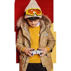 moomoo童装男女童羽绒服新款冬装洋气休闲韩版中大儿童连帽外套