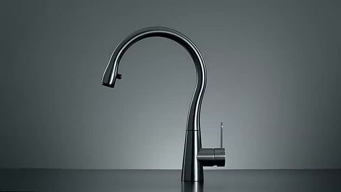 Good Contemporary Pull Out Flexible Long Handle UPC Commercial Kitchen Faucet