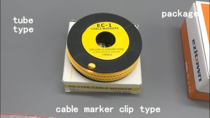 PVC kabel kawat penanda tag label tag marker mark klip pada lengan tie kawat tabung penanda kabel lengan