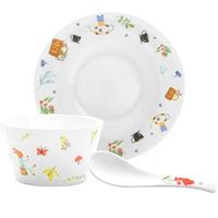 北府瓷业陶瓷餐具动物乐园系列碗盘勺自由组合米饭碗小碟平盘深盘