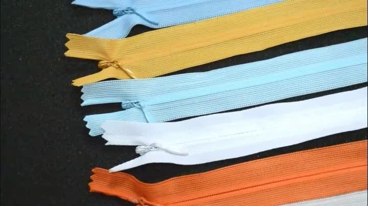Colorful Chiudi End 3 # Pizzo Reverse Bobina Cerniera Fabbrica Personalizza Zip Nascosta Invisibile Cerniera In Nylon Per Il Vestito
