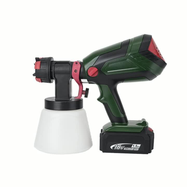 Profissional de pintura airless 1000 ml, alimentado por bateria pulverizador de tinta spray arma e sem fio para decoração de casa