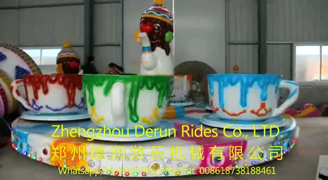 Theme parks decorations tea cup rides frp amusement park for Amusement park decoration ideas