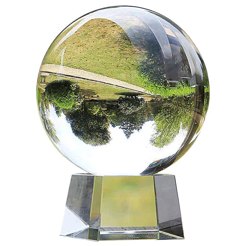 白风水透明开业摄影玻璃客厅水晶球质量怎么样