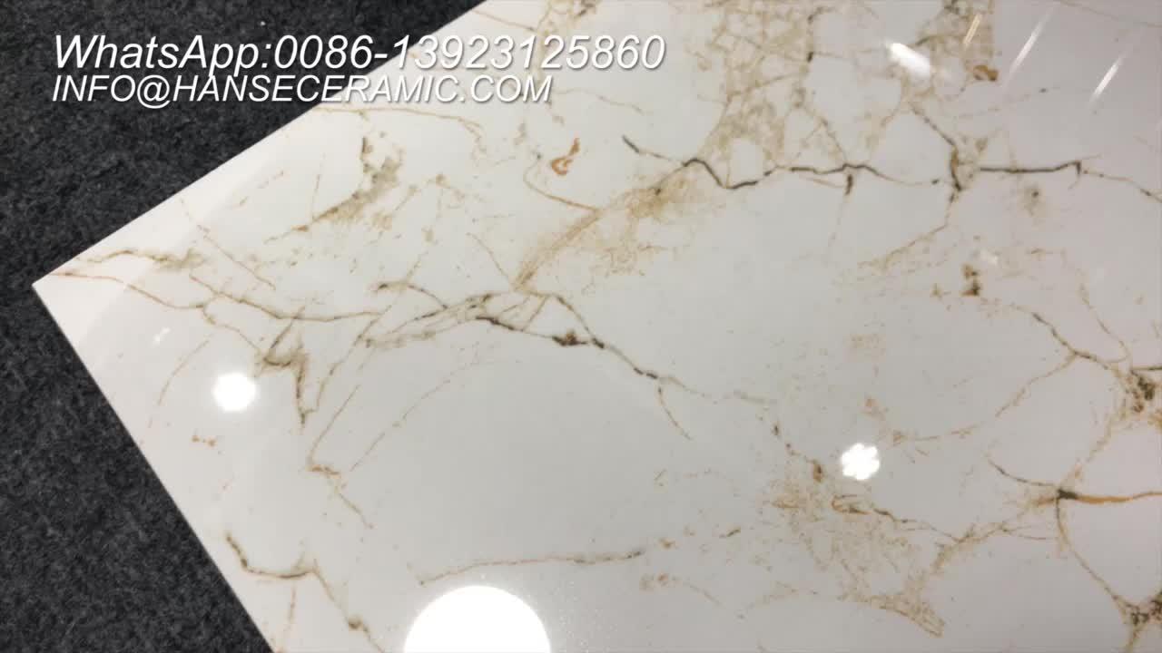 Hs637gn Calacatta Gold Marble Porcelain Floor Tile Buy