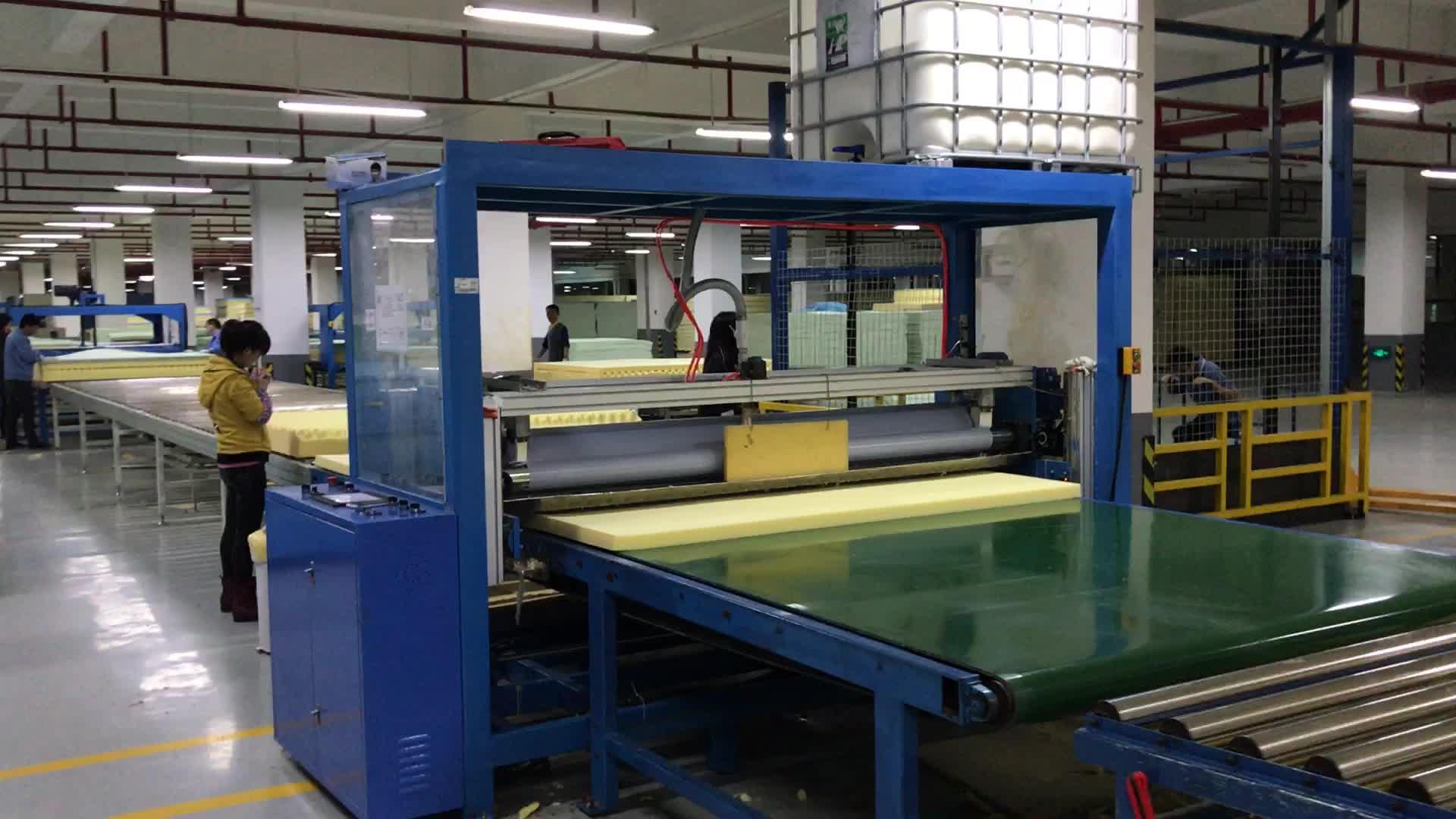 Automatic foam mattress glue coating machine