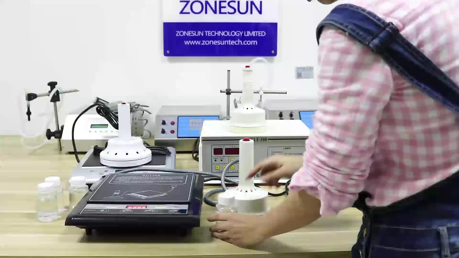 ZONESUN GLF-500F microordenador de mano de inducción electromagnética de papel de aluminio sellado de la máquina continua sellador de inducción