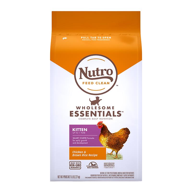 Nutro美士进口猫粮天然鸡肉奶糕幼猫猫粮幼猫专用粮1到12月2.27kg