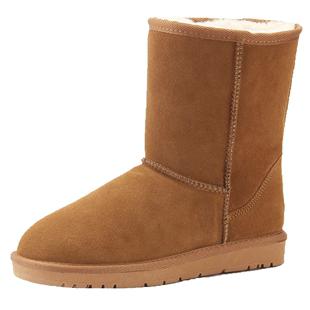 冬季羊皮毛一体中筒加绒2019雪地靴