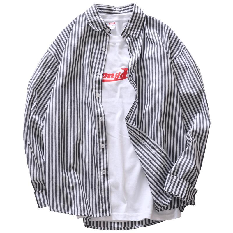 乱步夏季小清新竖条纹长袖男士衬衫好用吗