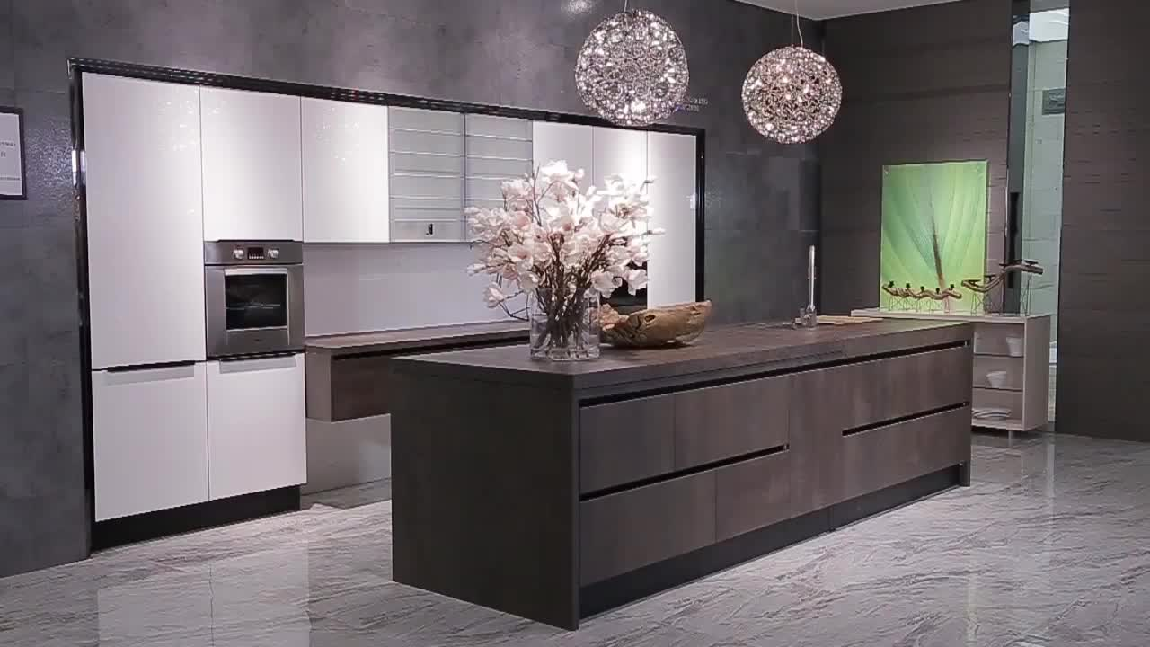 New Arrival 2016 OPPEIN Kitchen Cabinet Sintered Rock Material Luxury Series