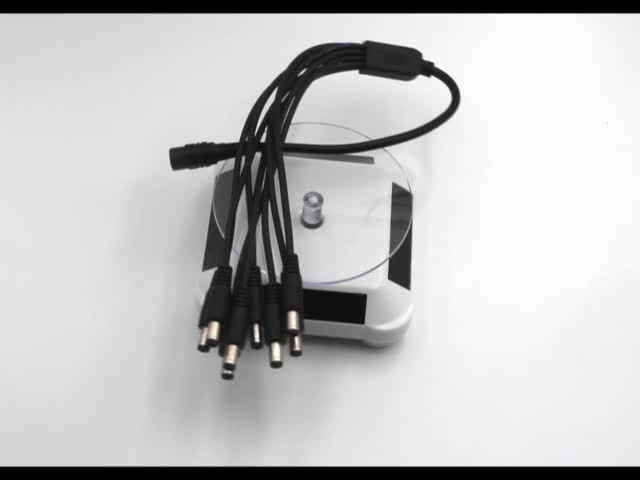 LED/CCTV Camera/solar panel adapter male to female 1 to 8 power splitter cable