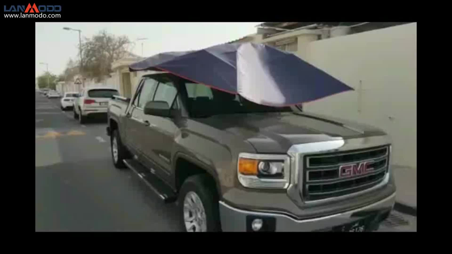 LANMODO automatic folding portable roof top car garage with remote control