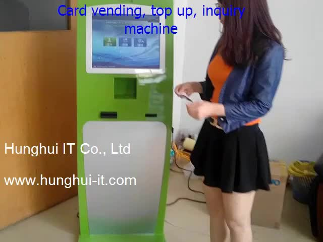 Customizable Touch Screen Member cards Mobile phone top up kiosk