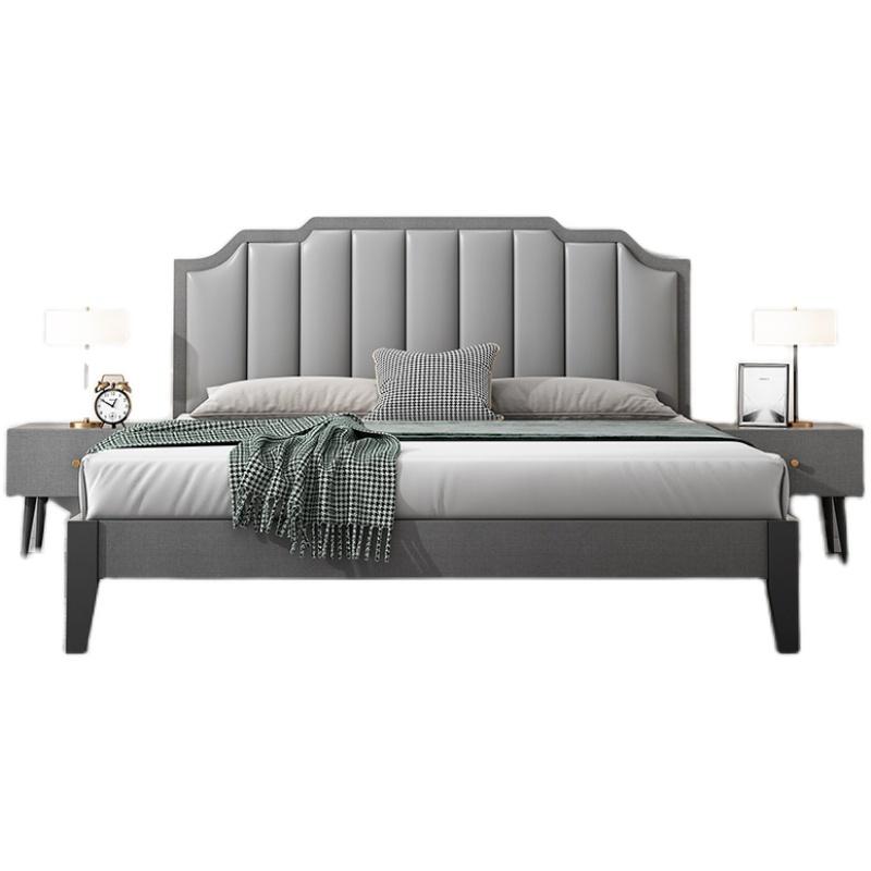 现代简约北欧风格1.8米主卧实木床评价如何