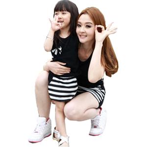 婴儿母女装夏装2021新款潮韩版t恤