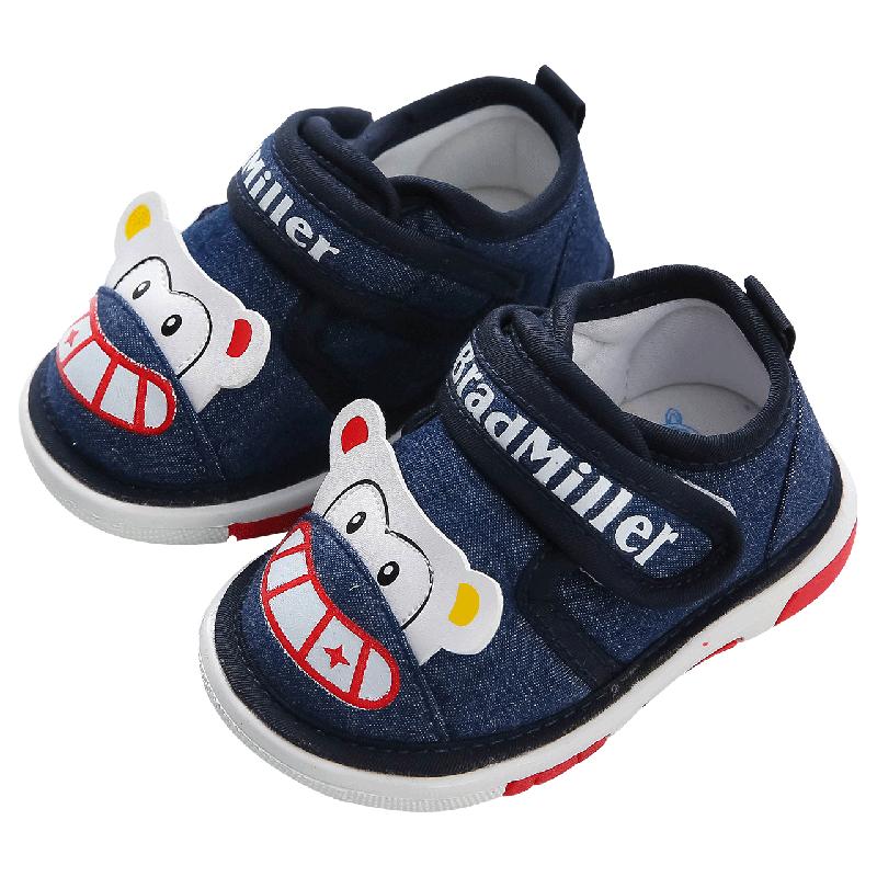 婴儿叫叫鞋女0-1-2岁秋季新品软底防滑幼儿6-12月宝宝学步鞋男