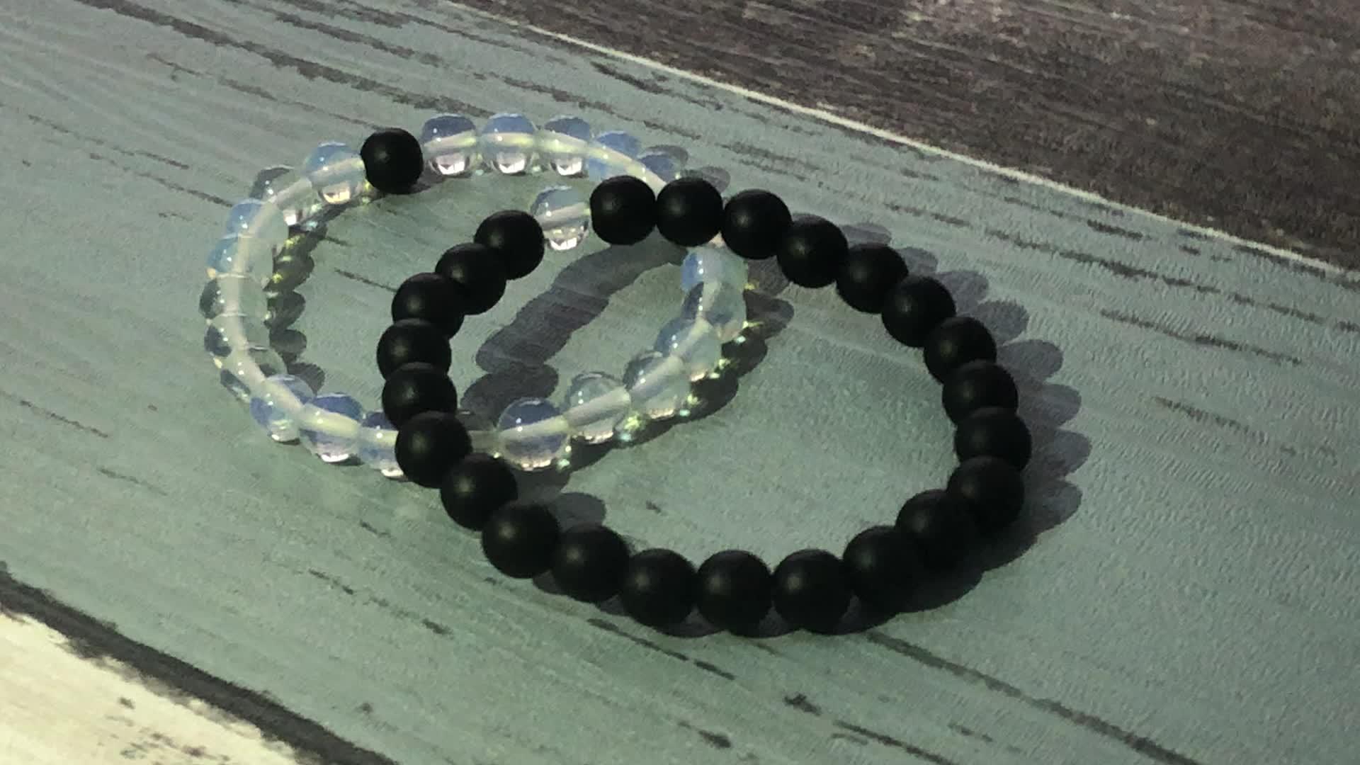 SN1646 Friendship Rough Stone Bracelets Healing Lava Stone Beaded Bracelet Raw Quartz Crystal Charm Bracelet