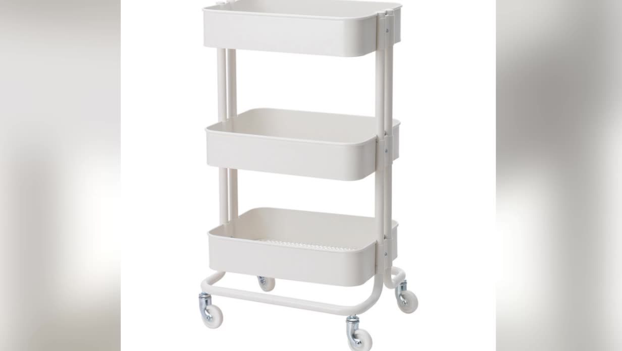 New Raskog Home Kitchen Bedroom Storage Steel Utility Cart