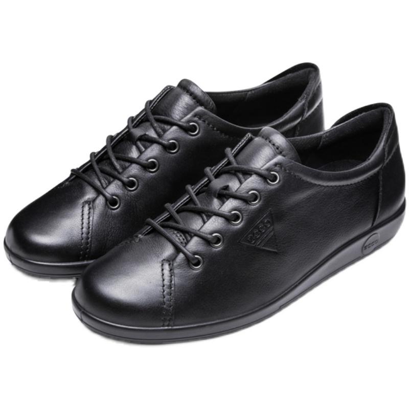 ecco平底单鞋女系带低帮鞋休闲鞋用后评测