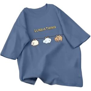 纯棉短袖2021年夏季新款宽松潮t恤