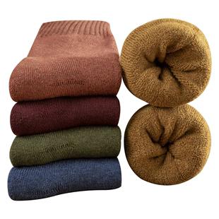 冬天长筒秋冬季加绒羊毛巾中筒袜