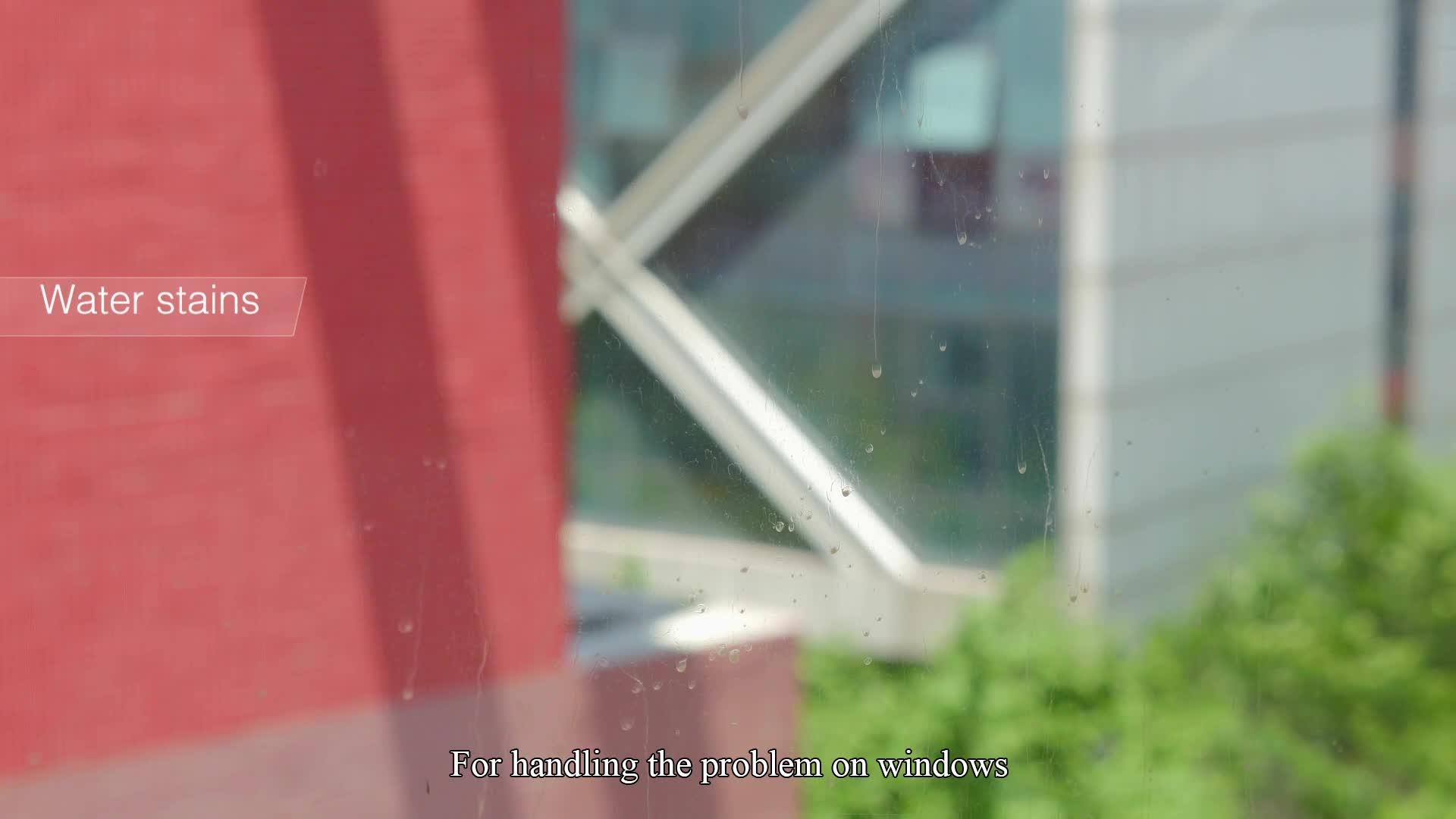 Langer Griff aus Mikrofaser mit rotierendem Wischgummi-Fensterreinigungsmop