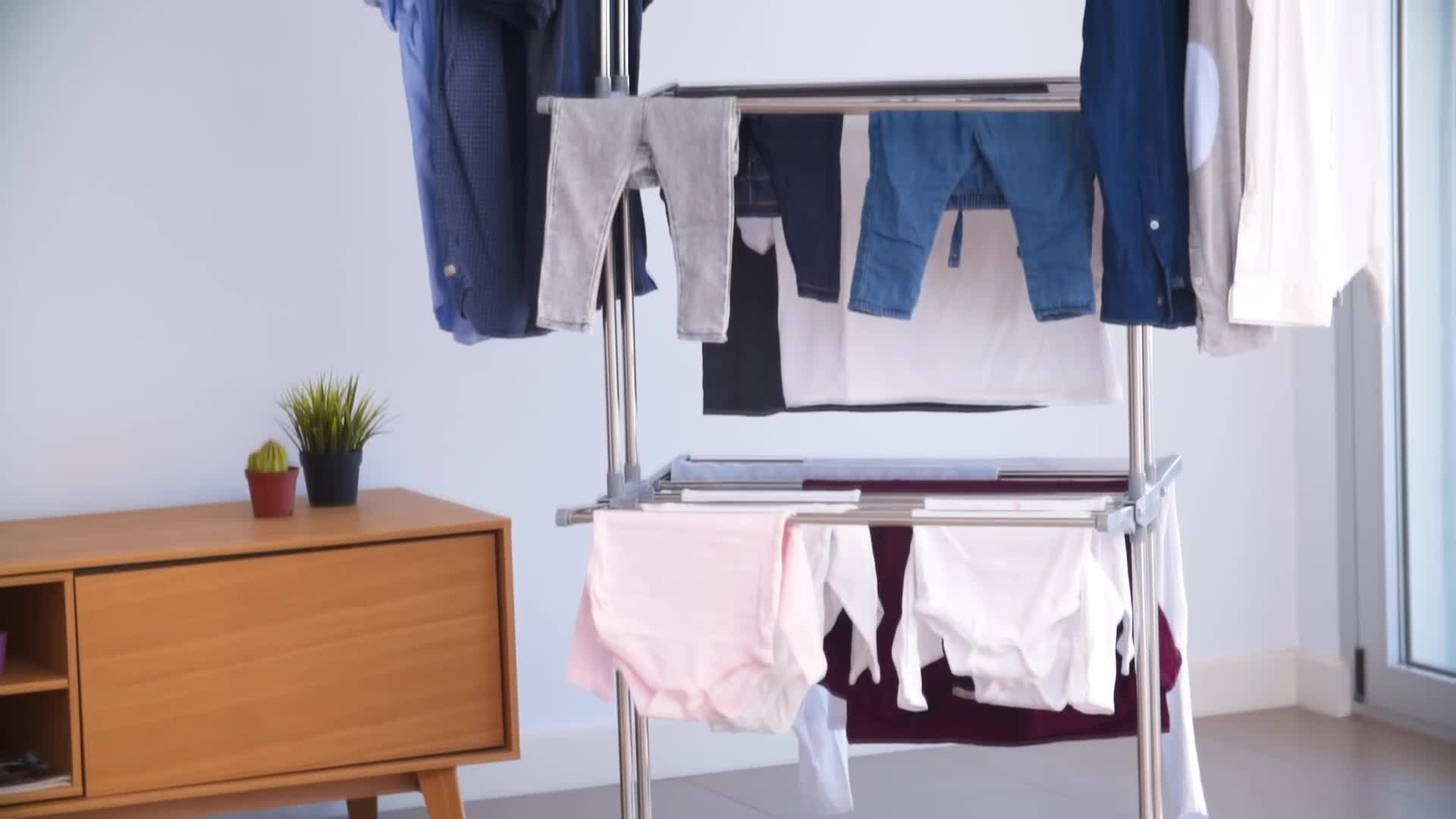 3 nivel retráctil de secador de rack