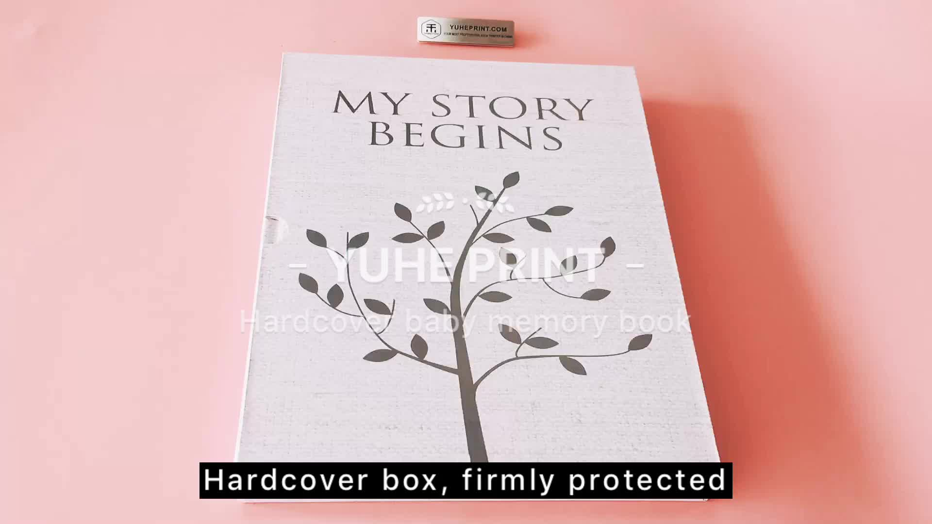 Overseas wholesale case bound offset printing art paper hot sale baby memory book