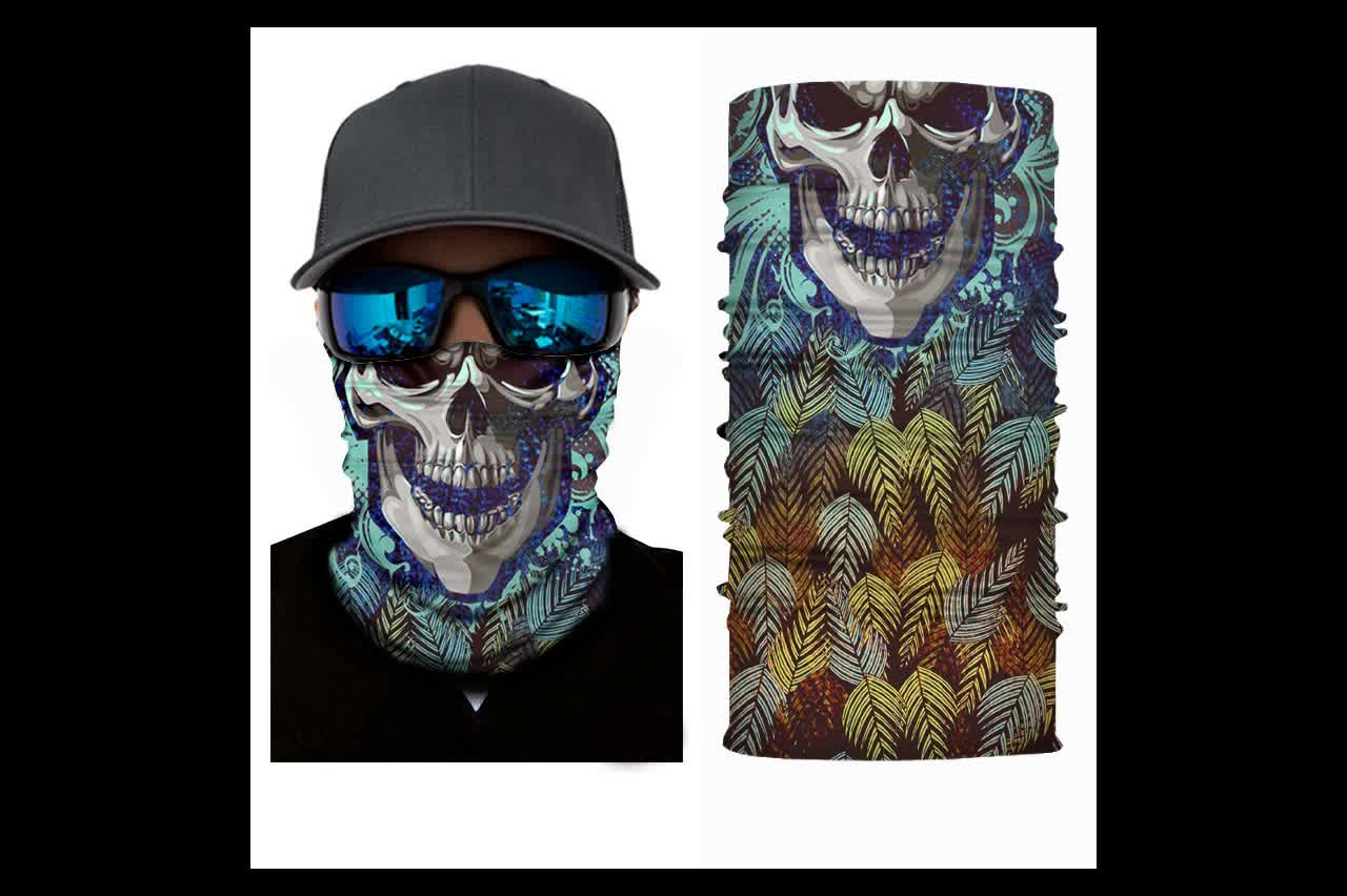 Cheap Wholesale Custom Seamless Tube Skull Bandana Face