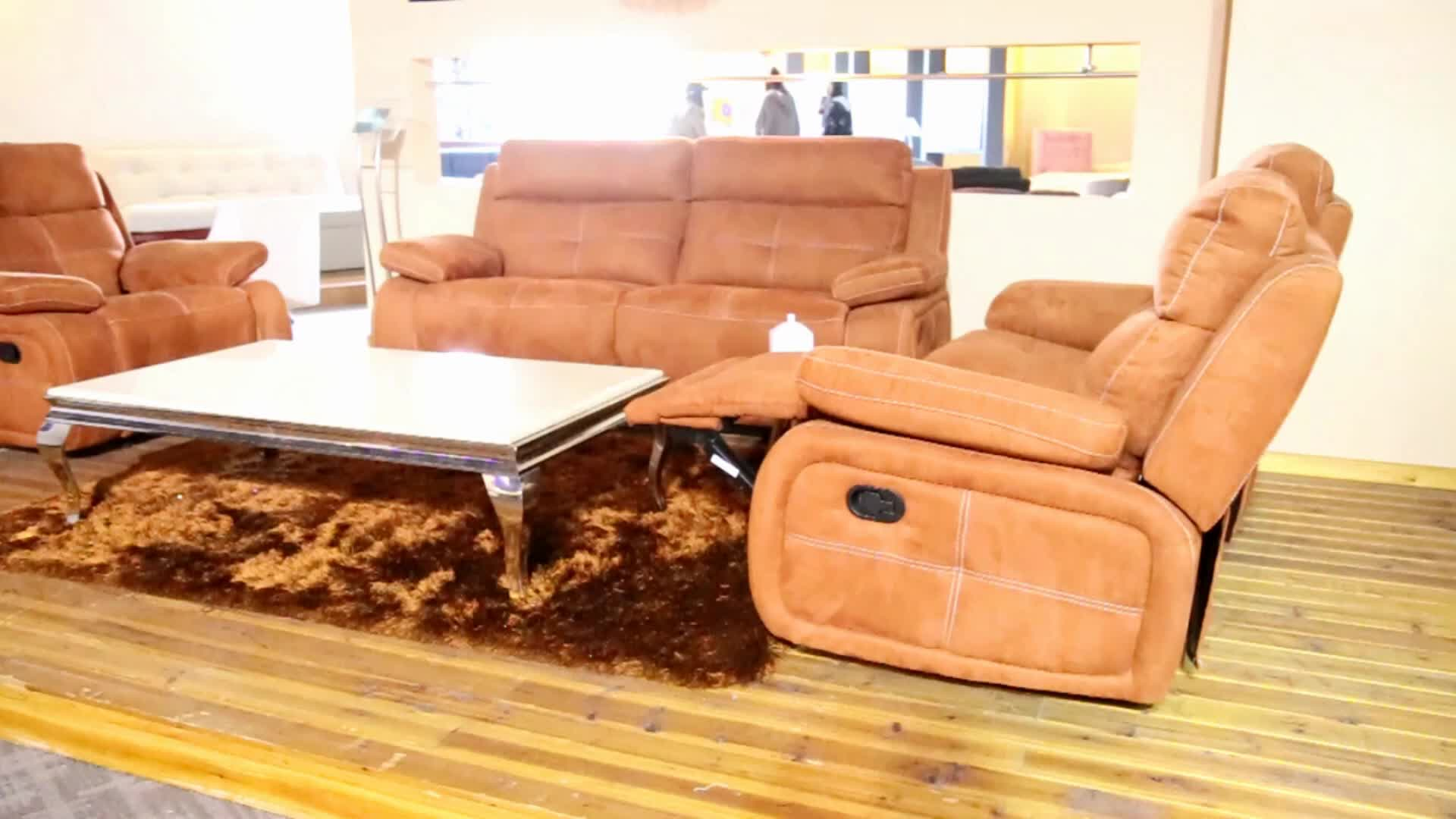 Yellow orange 1 seater fabric chaise lounge recliner sofa for 1 seater chaise lounge