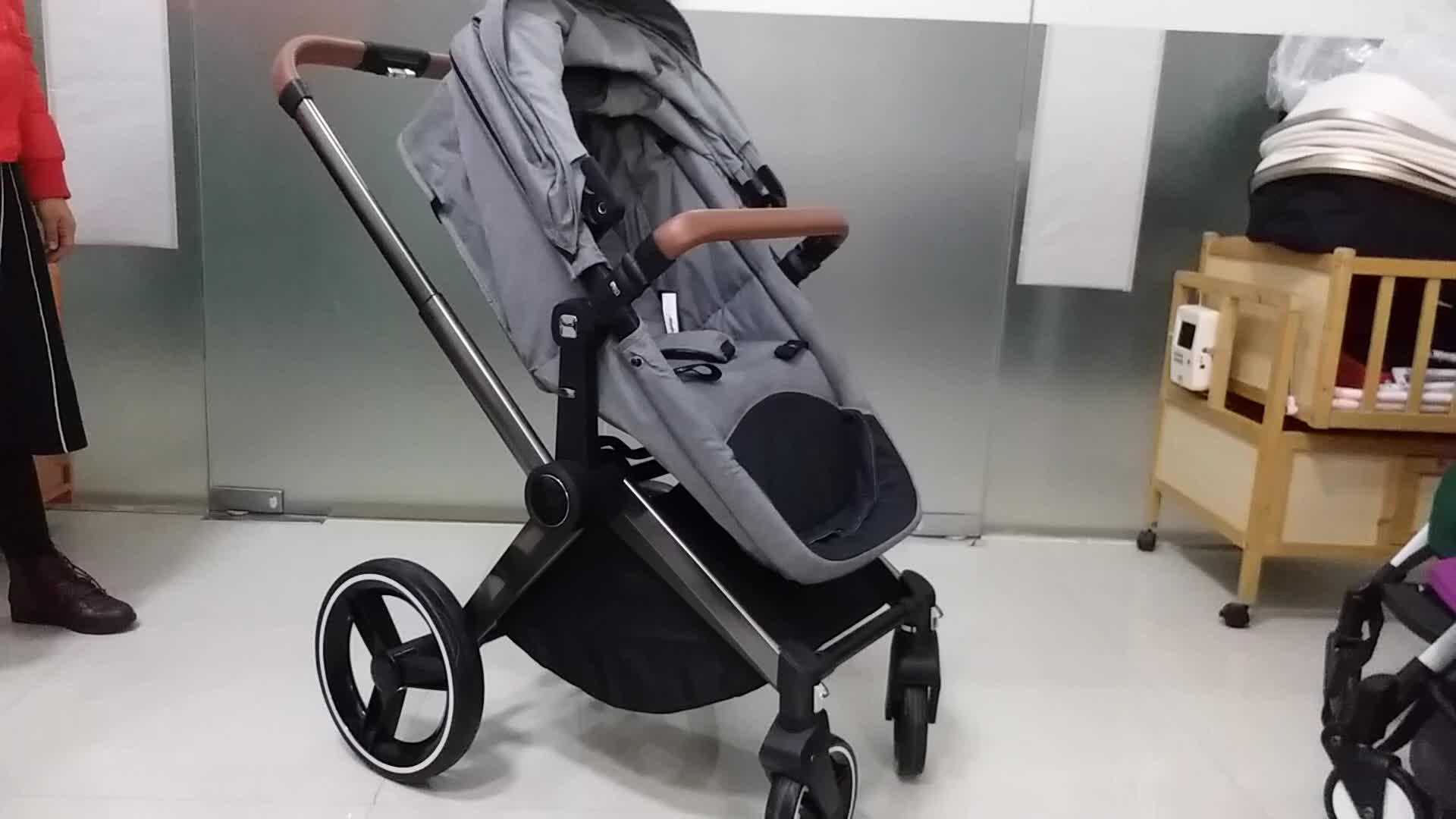 2018 Popular Big Wheels European Luxury Pram Stroller 3 in 1 For Baby
