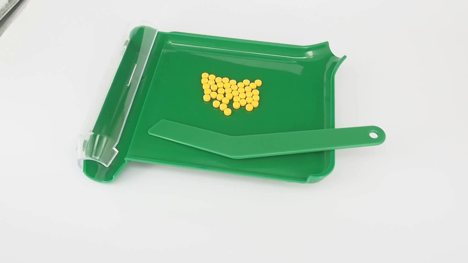 High Quality Plastic Pill Counting Tray With Spatula Pharmacy Use