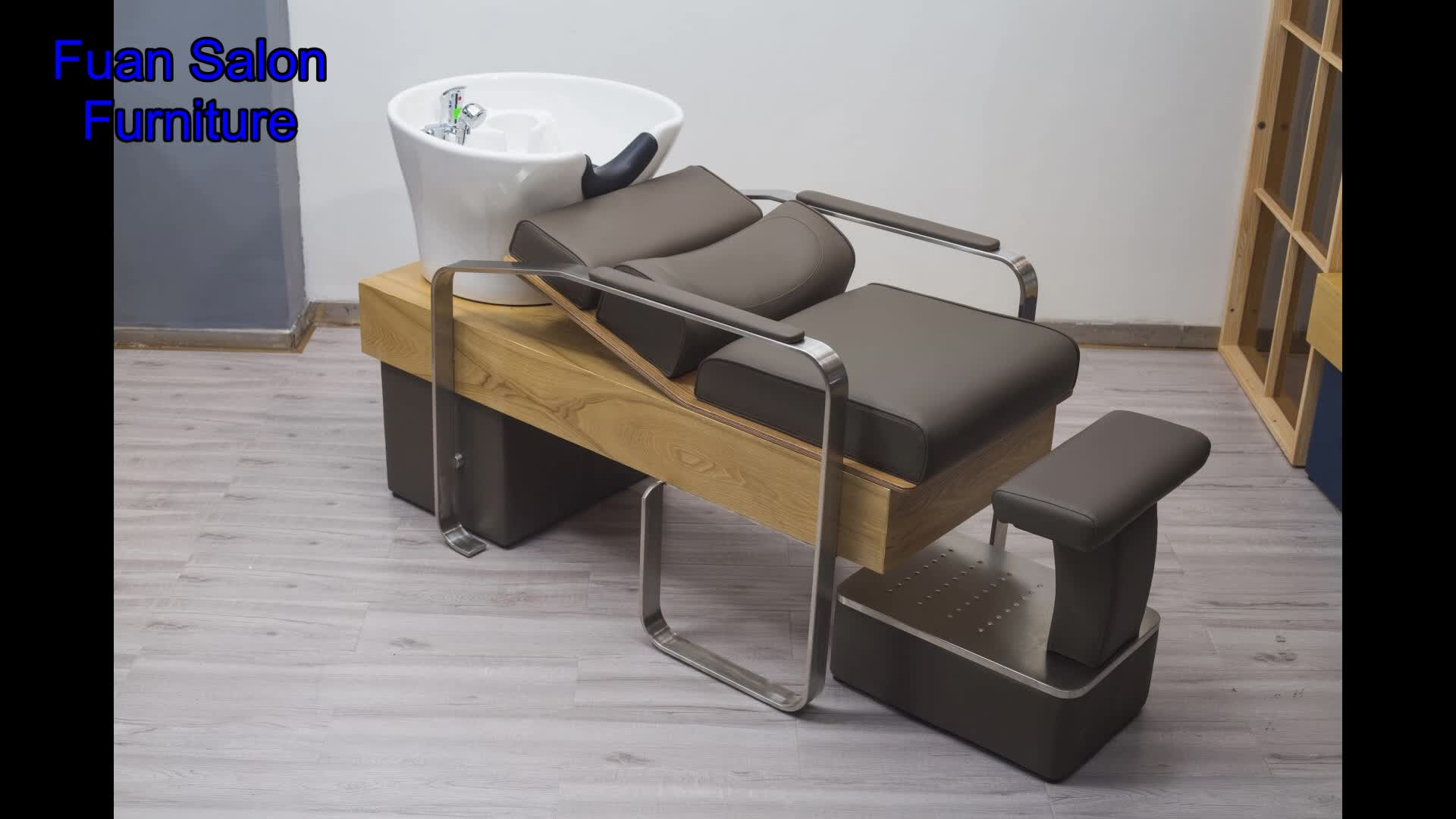 Salon furniture hairdressing supplies modern cheap shampoo bowl backwash unit basins washing used salon hair shampoo