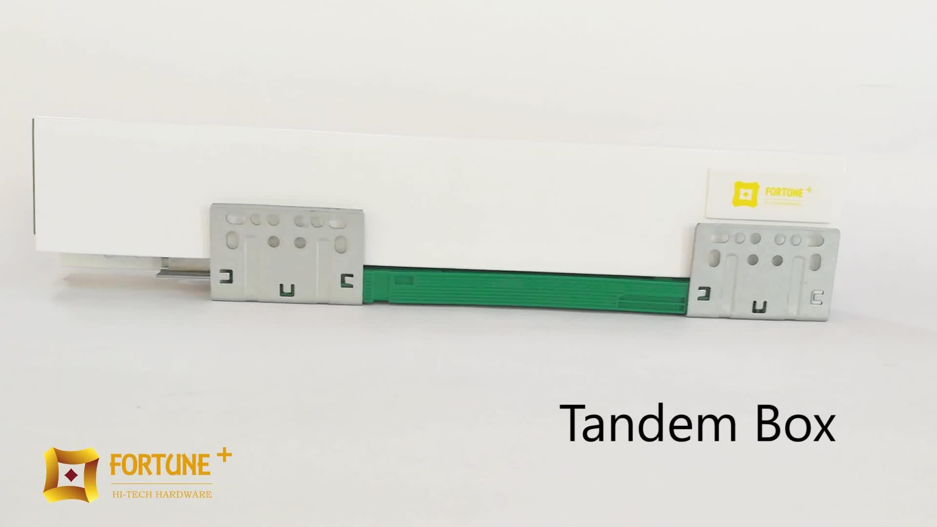 TB-119 Kartonhersteller Soft Closing Schubladenführung Tandem Box