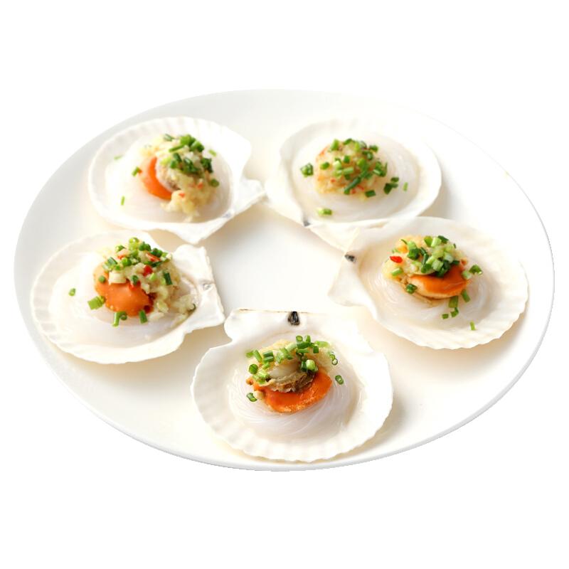 ㊙大扇贝即食海鲜新鲜扇贝鲜活水产贝类冷冻野生超大蒜蓉粉丝扇贝