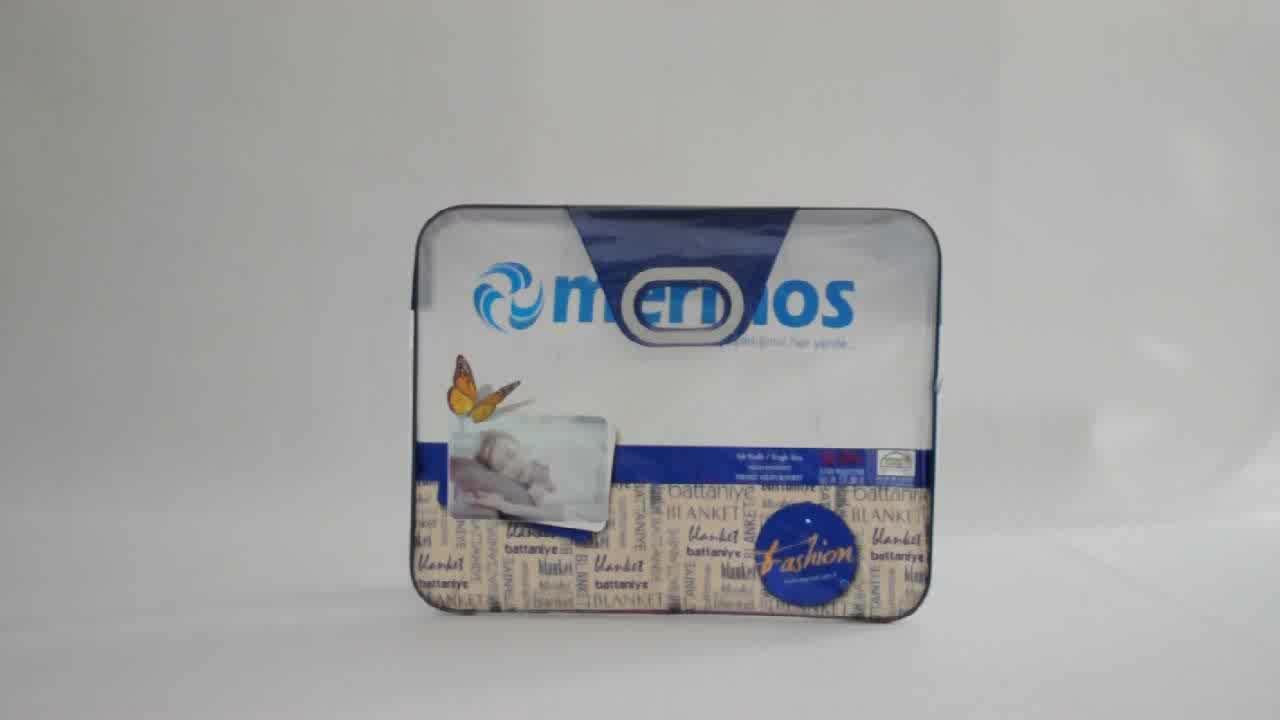 OEM Clear Plastic Pvc Deken Quilt Tas Met Handvat En Zip Lock