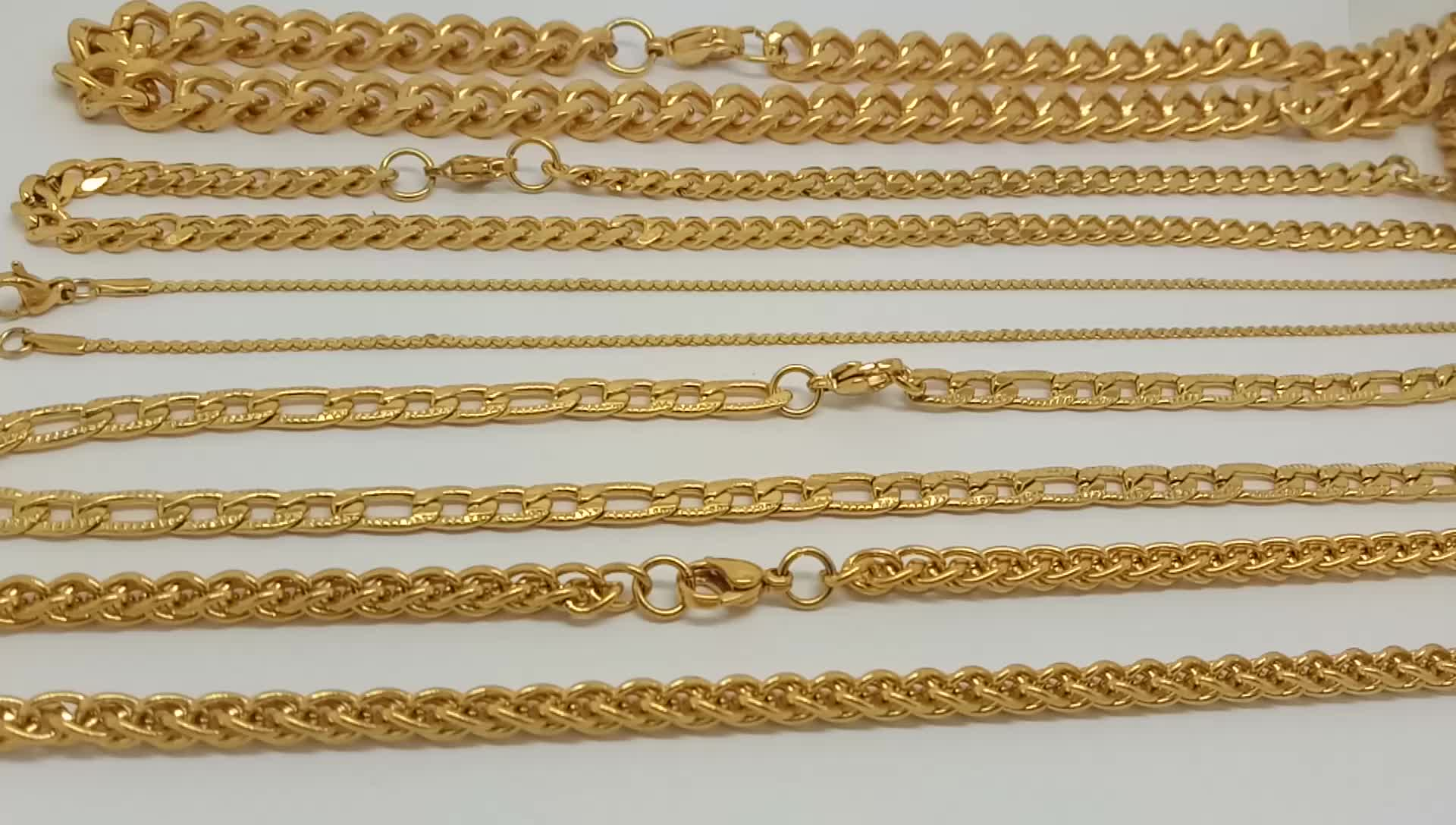 Olivia Different Types Of Stainless Steel Gold Square Snake Chain Necklace Men Herringbone Chain