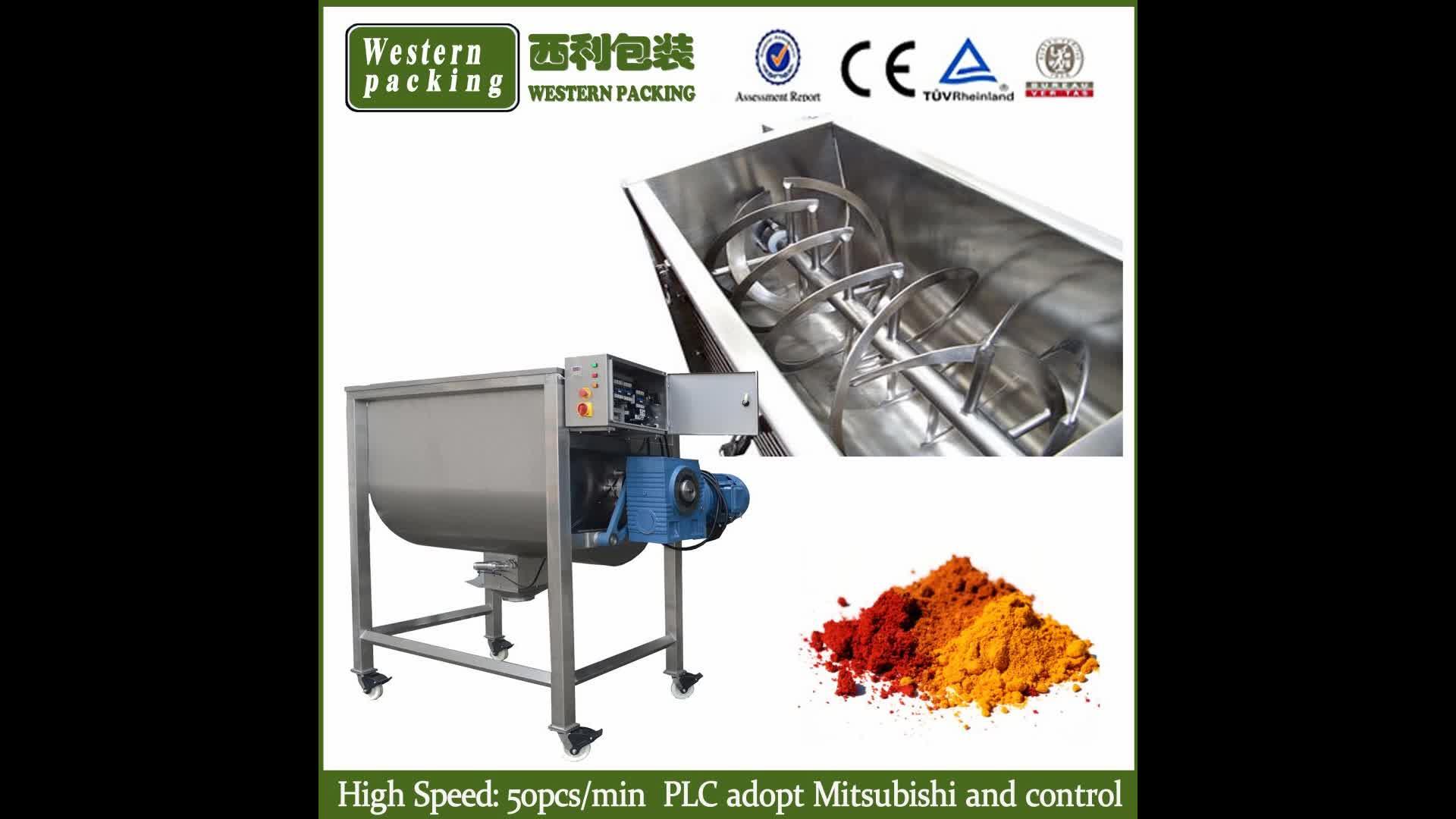misturador industrial do pó da fita / misturador da fita / máquina de mistura pó
