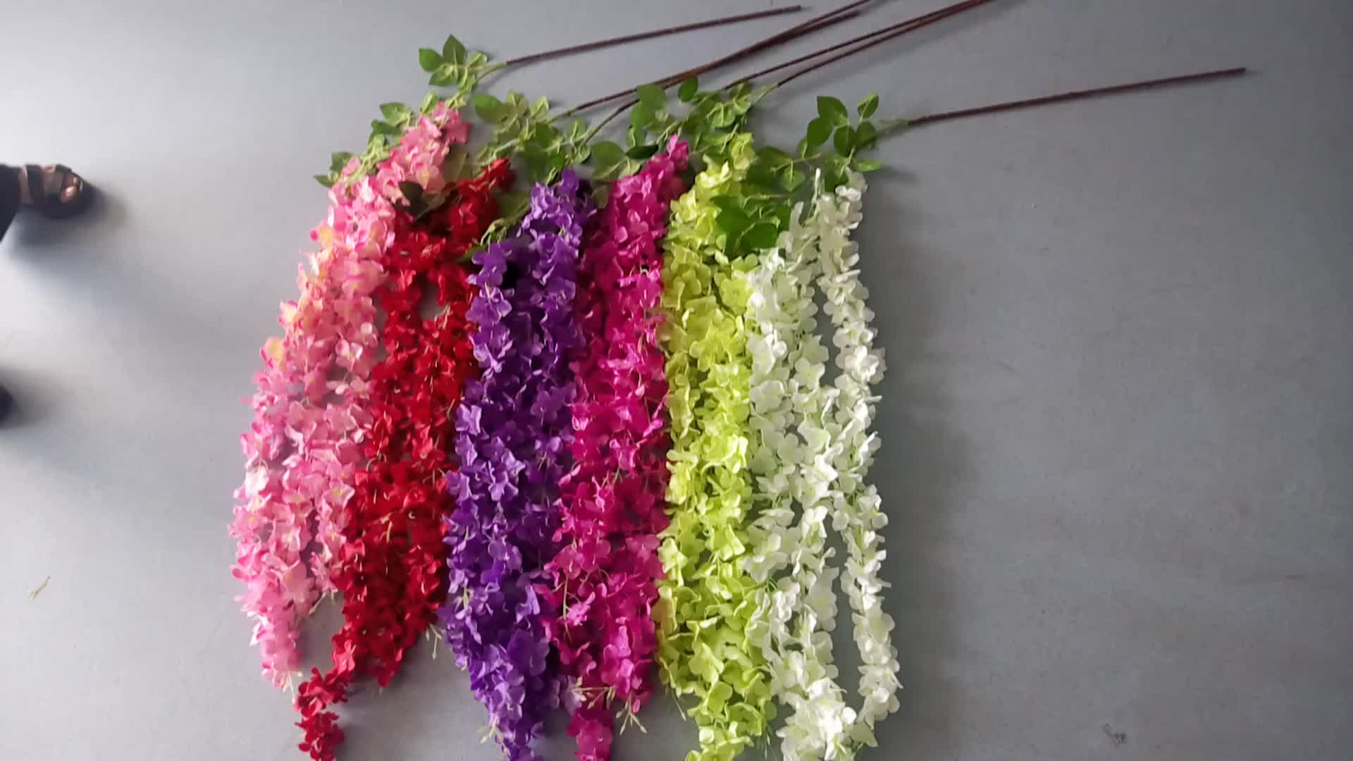 Garland centerpieces for wedding table high quality silk wisteria hanging