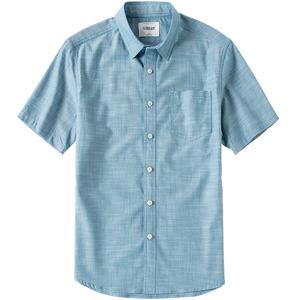 男装夏季新款男士宽松纯棉竹节衬衫