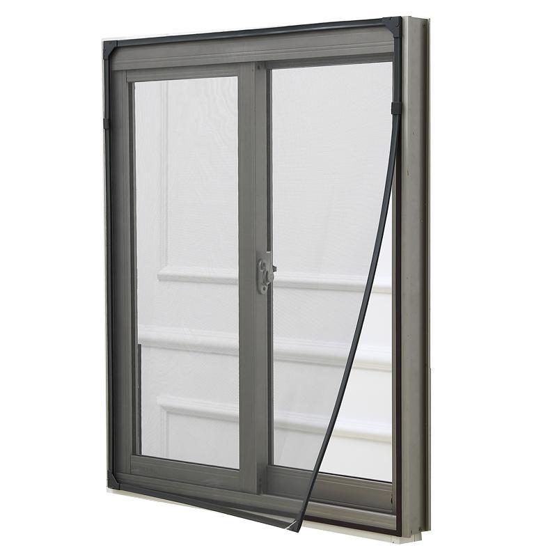 自粘窗户防蚊纱窗网自装磁力磁吸家用隐形简易窗纱窗帘魔术贴沙窗