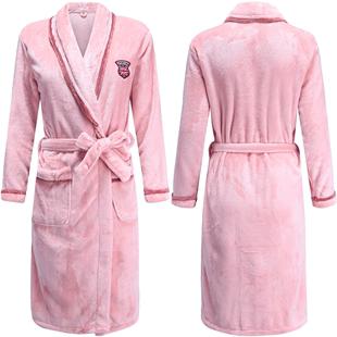 珊瑚绒长款晨袍秋冬月子性感睡袍