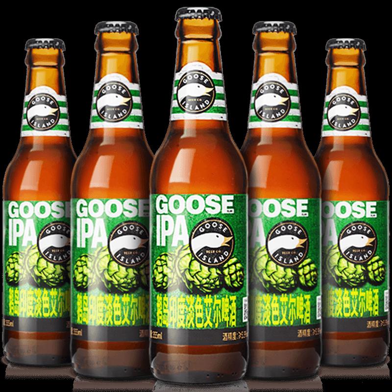 百威精酿系列GOOSE ISLAND鹅岛印度淡色艾尔ipa精酿啤酒355ml*12,免费领取50元淘宝优惠卷
