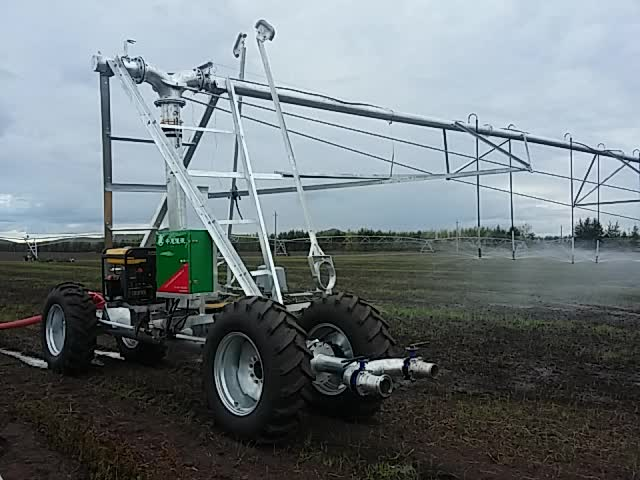 lateral linear move hose drag irrigation system