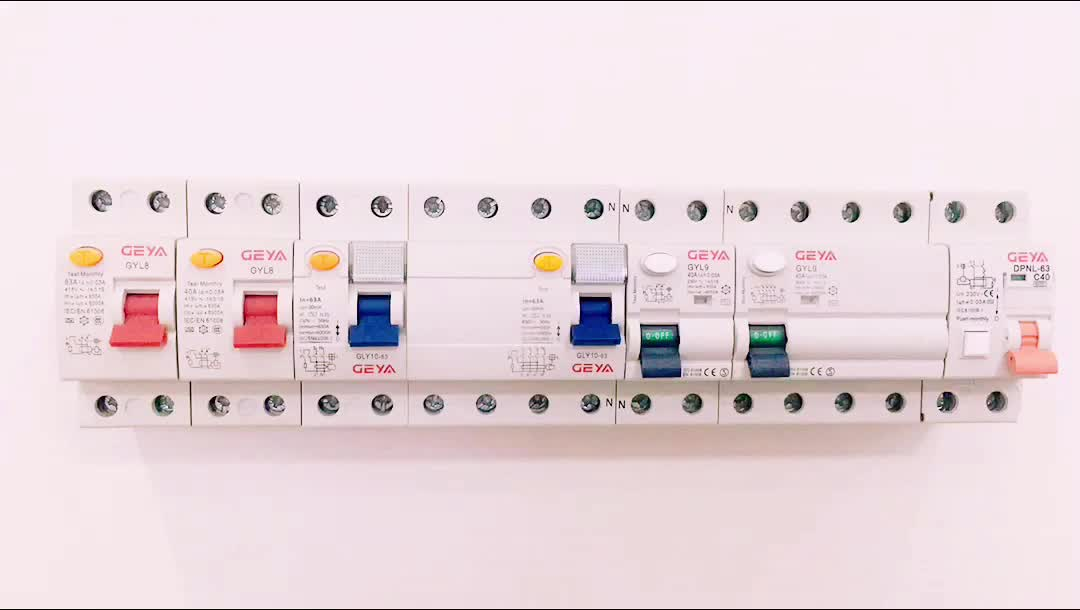 GEYA New Model GYL8 RCD Residual Circuit Breaker with CE CB Certificate Single Phase ELCB DP 25A 40A 63A